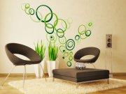 Samoljepljiva dekoracija za zid Zeleni krugovi ST1-021 Naljepnice za zid