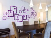 Samoljepljiva dekoracija za zid Ljubičasti kvadrati ST1-022 Naljepnice za zid