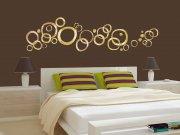 Samoljepljiva dekoracija za zid Zlatni krugovi ST1-024 Naljepnice za zid