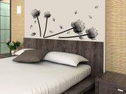 Samoljepljiva dekoracija za zid Sivo cvijeće ST1-027 Naljepnice za zid