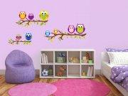 Dječja naljepnica za zid Sovice ST1-029 Naljepnice za dječju sobu