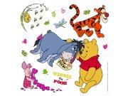 Dječje naljepnice Winnie Pooh i magarac DKS-1086, 30x30 cm Naljepnice za dječju sobu