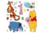 Dječje naljepnice Winnie Pooh i prijatelji DKS-1087, 30x30 cm Naljepnice za dječju sobu