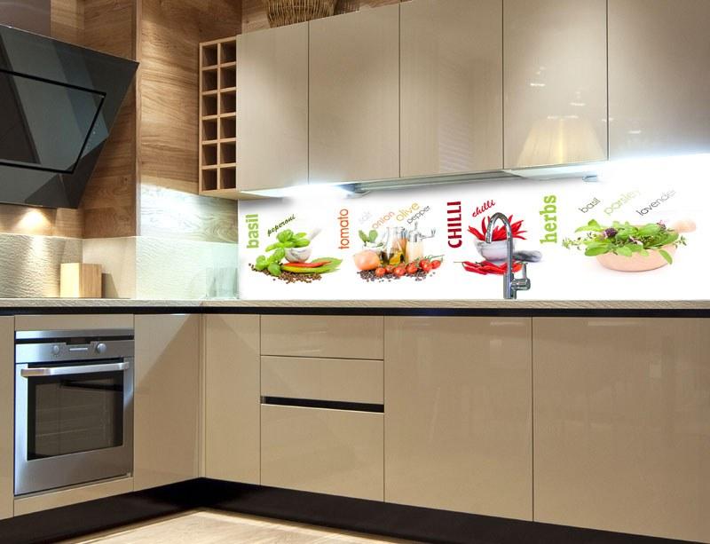 Samoljepljiva foto tapeta za kuhinje Začini KI-260-003, 260x60 cm - Foto tapete