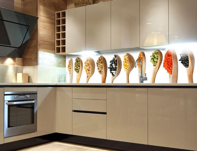 Samoljepljiva foto tapeta za kuhinje Drvene žlice KI-260-005, 260x60 cm - Foto tapete