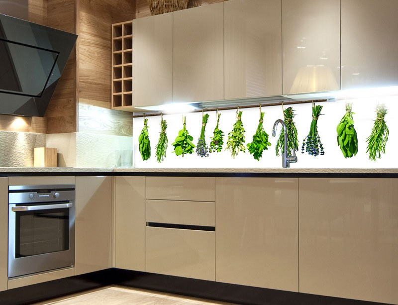 Samoljepljiva foto tapeta za kuhinje Herbs KI-180-007, 180x60 cm - Foto tapete