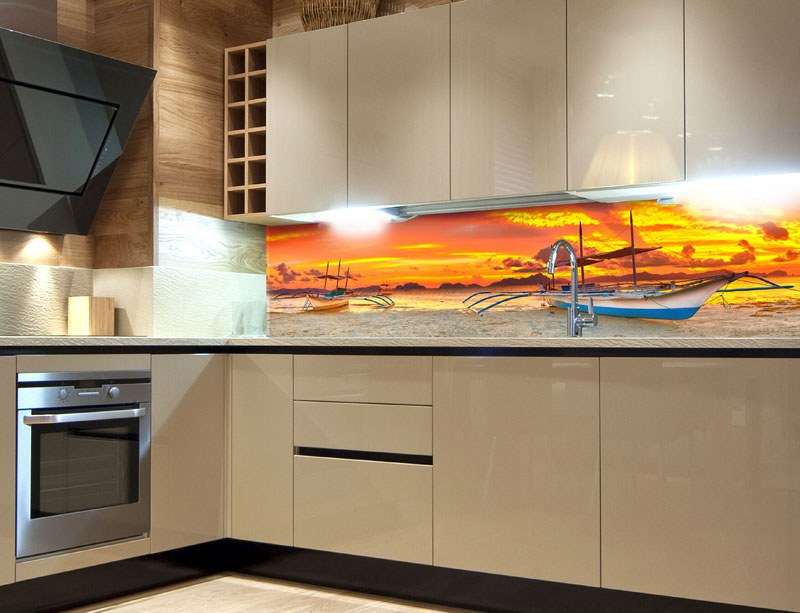 Samoljepljiva foto tapeta za kuhinje Boat KI-180-014, 180x60 cm - Foto tapete