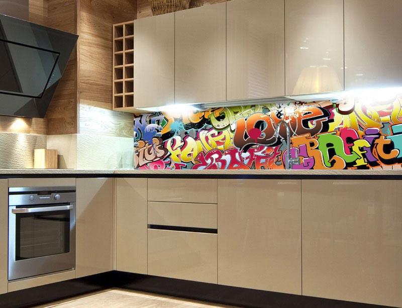 Samoljepljiva foto tapeta za kuhinje Graffiti KI-260-020, 260x60 cm - Foto tapete