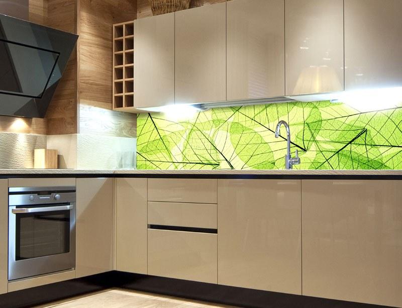 Samoljepljiva foto tapeta za kuhinje Leaf Veins KI-180-048, 180x60 cm - Foto tapete