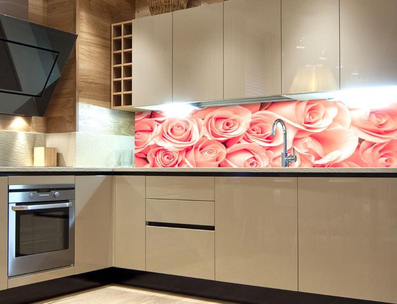 Samoljepljiva foto tapeta za kuhinje Ruža KI-260-052, 260x60 cm - Foto tapete