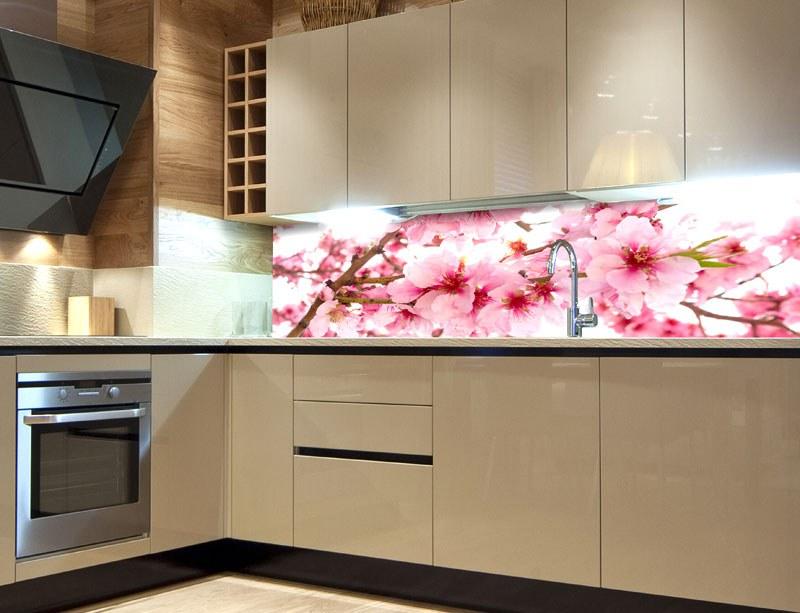 Samoljepljiva foto tapeta za kuhinje Cvijetovi jabuke KI-260-054, 260x60 cm - Foto tapete
