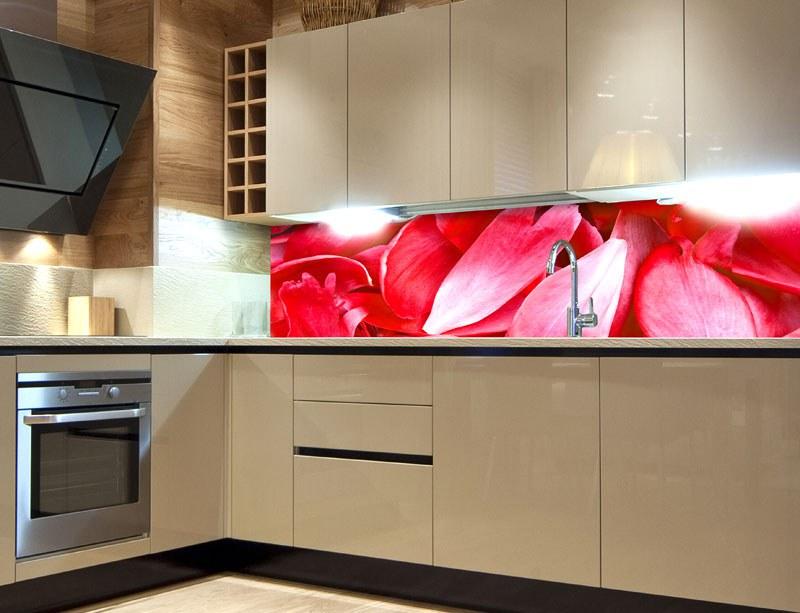 Samoljepljiva foto tapeta za kuhinje Red Petals KI-180-056, 180x60 cm - Foto tapete