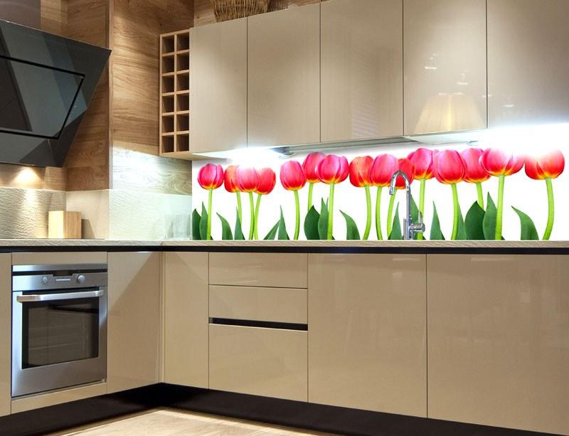 Samoljepljiva foto tapeta za kuhinje Bed of Tulips KI-180-058, 180x60 cm - Foto tapete