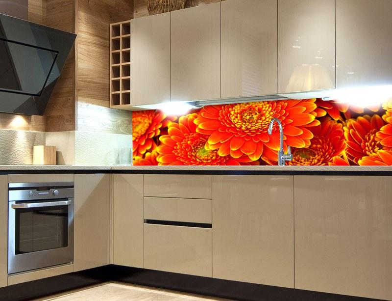 Samoljepljiva foto tapeta za kuhinje Gerbera KI-180-059, 180x60 cm - Foto tapete