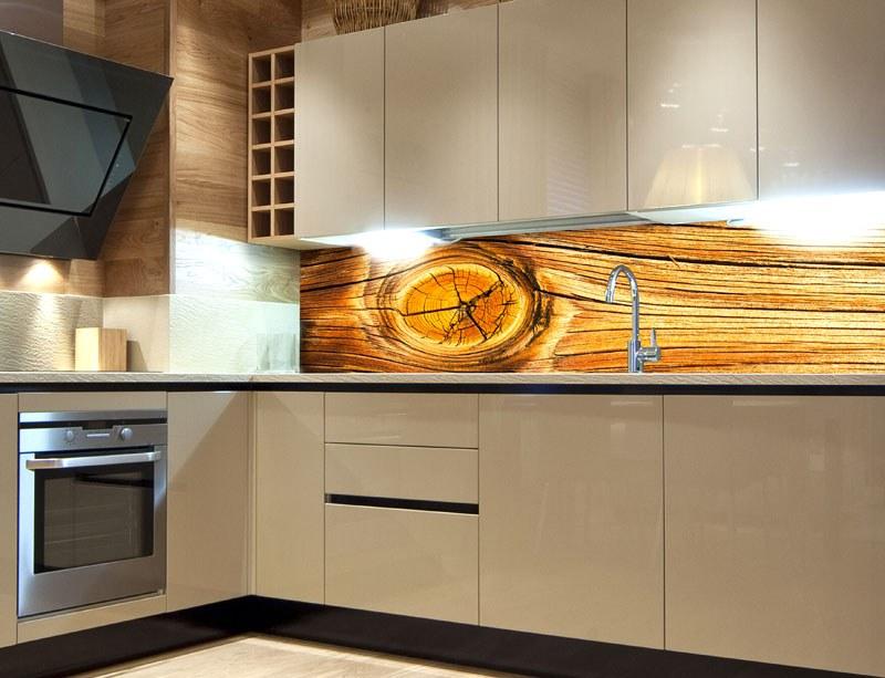 Samoljepljiva foto tapeta za kuhinje Wood Knot KI-180-061, 180x60 cm - Foto tapete