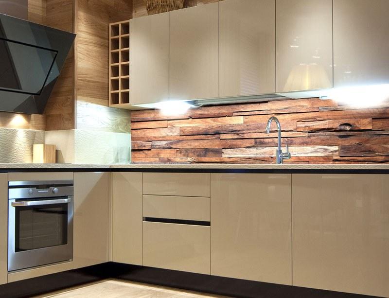 Samoljepljiva foto tapeta za kuhinje Wooden Wall KI-180-063, 180x60 cm - Foto tapete
