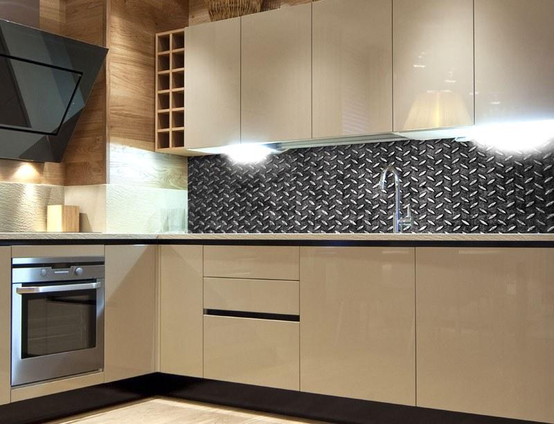 Samoljepljiva foto tapeta za kuhinje Metal Platform KI-180-068, 180x60 cm - Foto tapete