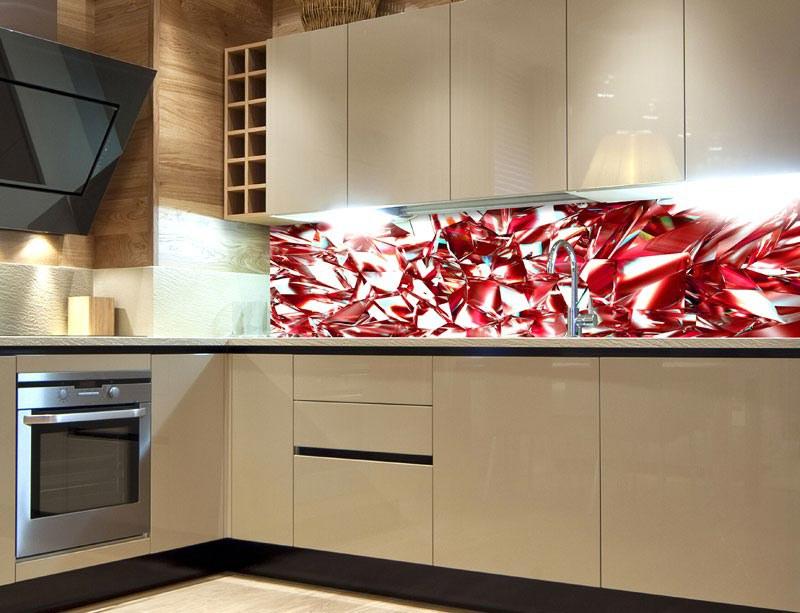 Samoljepljiva foto tapeta za kuhinje Red Crystal KI-180-071, 180x60 cm - Foto tapete