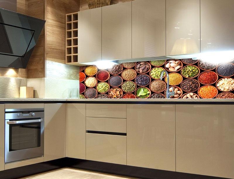 Samoljepljiva foto tapeta za kuhinje Spice Bowls KI-180-075, 180x60 cm - Foto tapete
