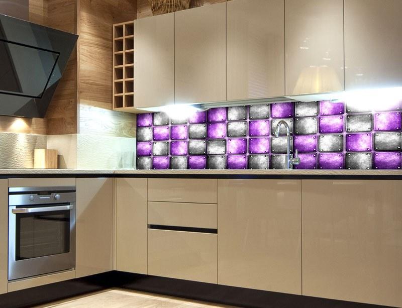 Samoljepljiva foto tapeta za kuhinje Metal Tiles KI-180-078, 180x60 cm - Foto tapete
