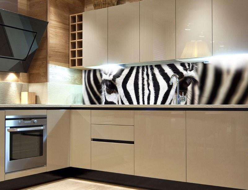 Samoljepljiva foto tapeta za kuhinje Zebra KI-260-016, 260x60 cm - Foto tapete