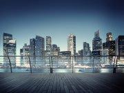 Flis foto tapeta AG Pogled iz terase na město FTNXXL-2486 | 360x270 cm Foto tapete