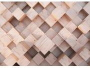 Flis foto tapeta AG Apstrakcija drvene kockice FTNXXL-2496 | 360x270 cm Foto tapete