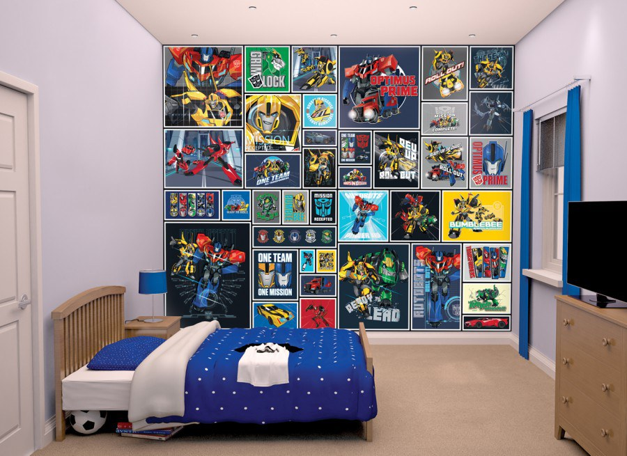 3d foto tapeta walltastic transformers robots 43831 305x244 cm - Transformers tapete ...
