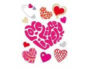 Samoljepljiva dekoracija za zid srdce D9380 Naljepnice za zid