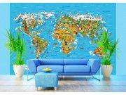 Foto tapeta AG Karta svijeta FTS-1320 | 360x254 cm Foto tapete