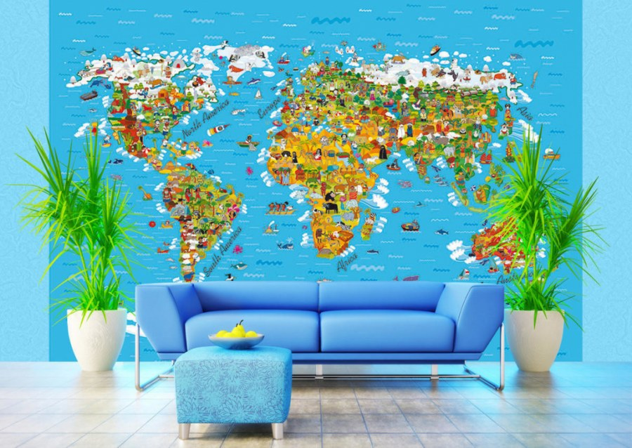 Foto tapeta AG Karta svijeta FTS-1320 | 360x254 cm - Foto tapete