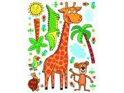 Dječje naljepnice Žirafa K-1043, 85x65 cm Naljepnice za dječju sobu