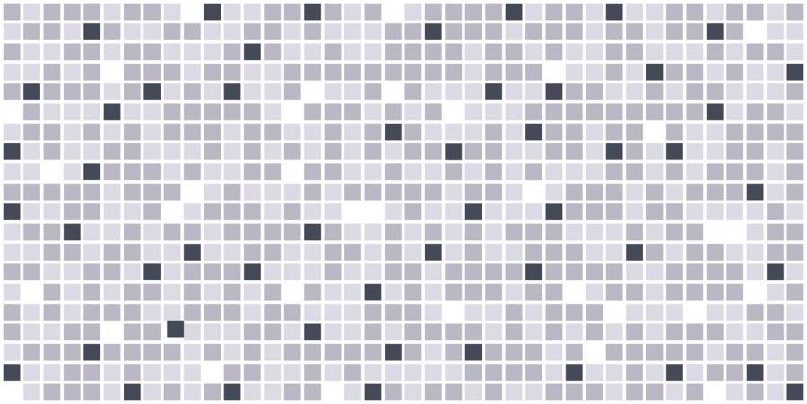 3D zidni PVC panel mozaik sivi - 3D zidni paneli