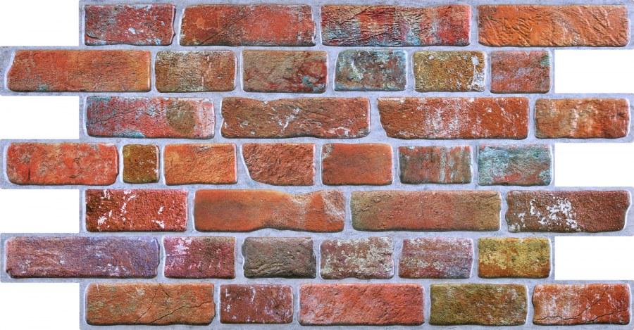 3D zidni PVC panel imitacija zida od crvene cigle - 3D zidni paneli