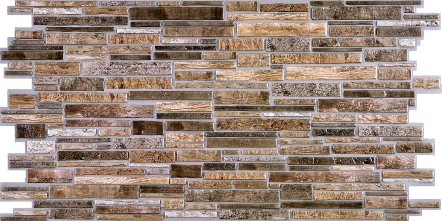 3D zidni PVC panel imitacija kamena škriljevca smeđa - 3D zidni paneli