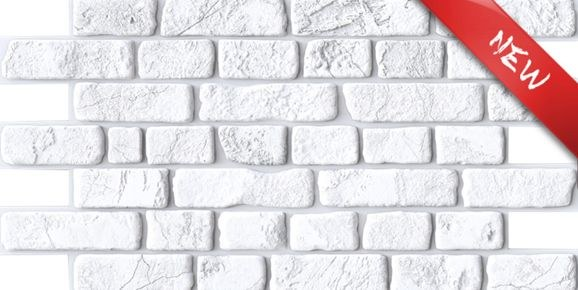 3D zidni PVC panel imitacija bila cigla - 3D zidni paneli