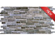 3D zidni PVC panel imitacija škriljevca siva 3D zidni paneli