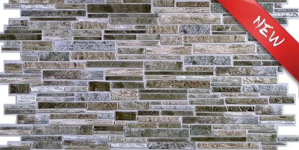 3D zidni PVC panel imitacija škriljevca siva - 3D zidni paneli