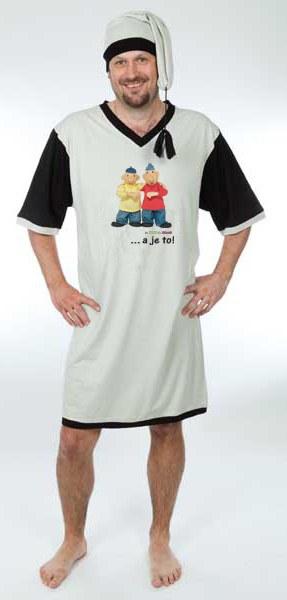 Noćna košulja sa kapom Pat i Mat, veličina M - Noćna košulja Pat i Mat