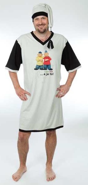 Noćna košulja sa kapom Pat i Mat, veličina XXL - Noćna košulja Pat i Mat