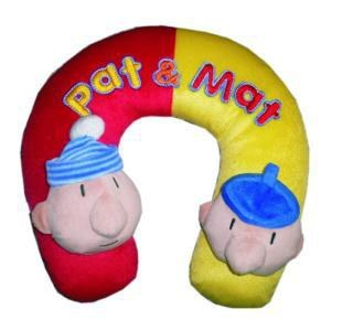 Putni jastučić za glavu Pat i Mat - Plišane figure Pat i Mat