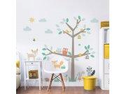 Dječja naljepnica za zid Šareno stablo 44647 Naljepnice za dječju sobu