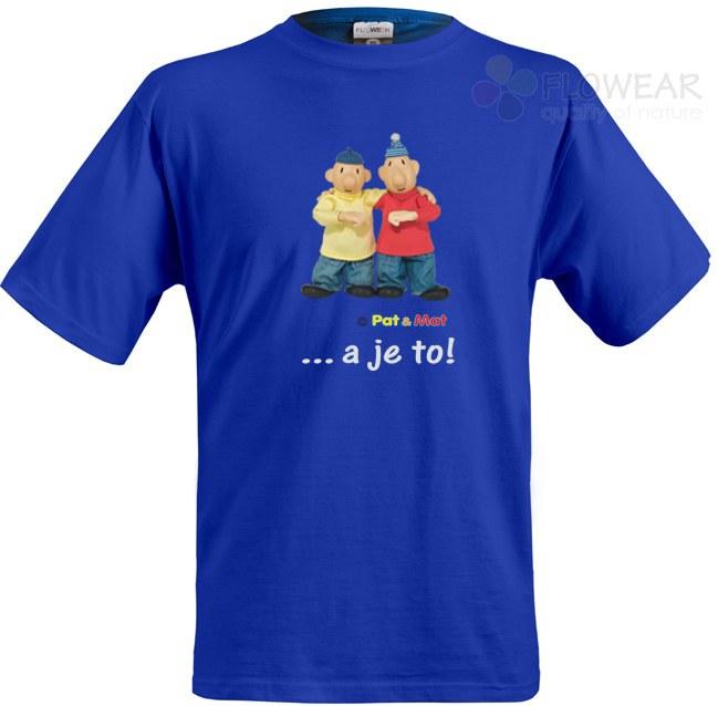 Dječja majica Pat i Mat royal plava, veličina 110 - Dječje majice
