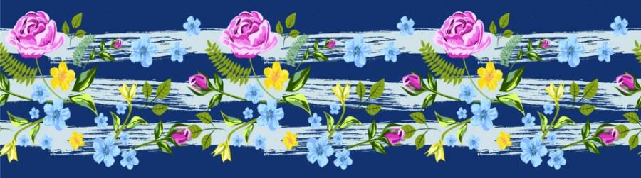 Samoljepljiva bordura Cvijeće WB8237 - Samoljepljive bordure