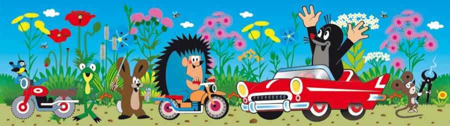 Samoljepljiva bordura Krtek i avtíčko WBD8101 - Naljepnice za dječju sobu