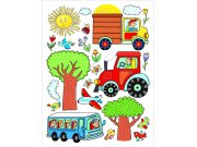 Samoljepljiva dekoracija Traktor DK-2314, 85x65 cm Naljepnice za dječju sobu