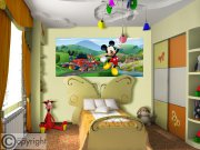 Flis foto tapeta AG Mickey Movse FTDNH-5375 | 202x90 cm Foto tapete