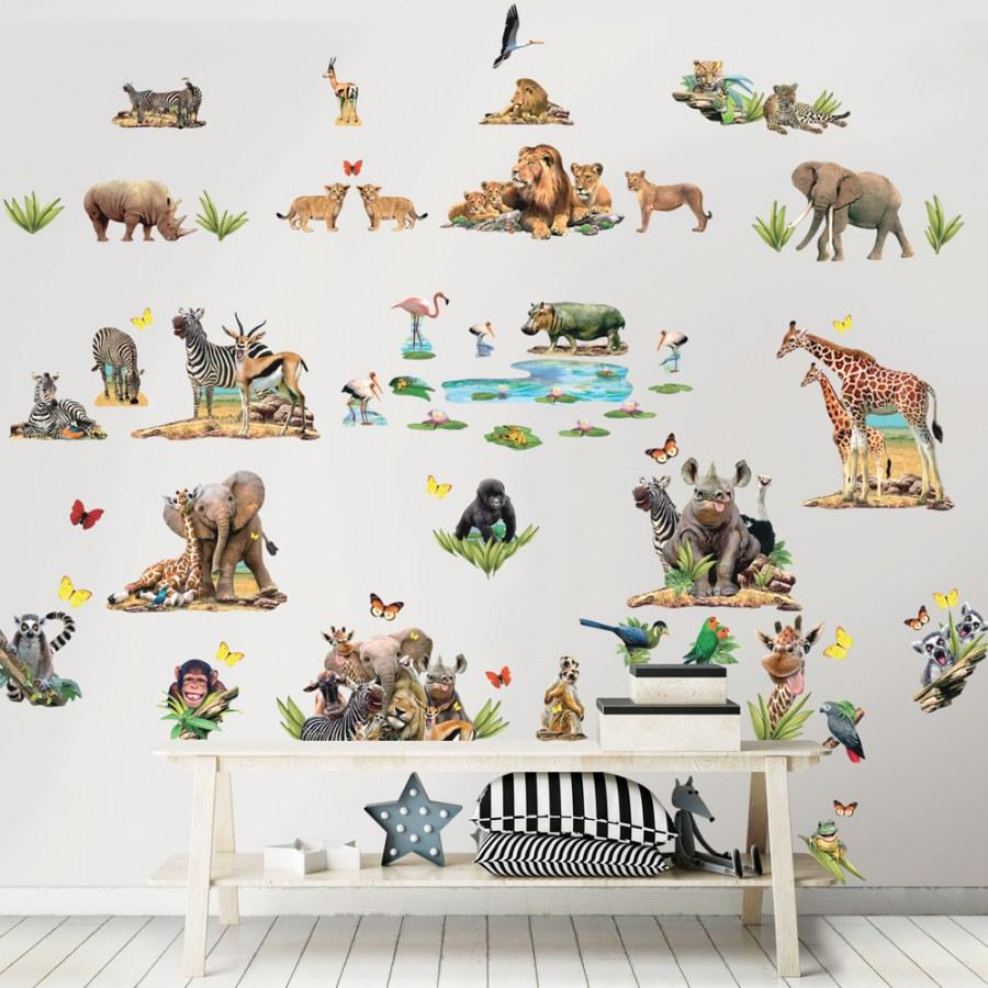 Dječja naljepnica Walltastic Safari 45439 - Naljepnice za dječju sobu