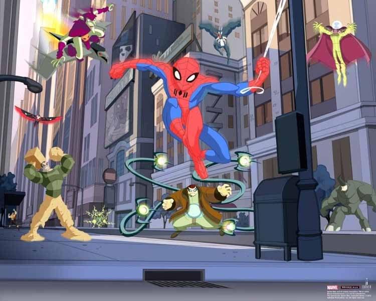 3D foto tapeta Spiderman Walltastic 45335 | 305x244 cm - Foto tapete