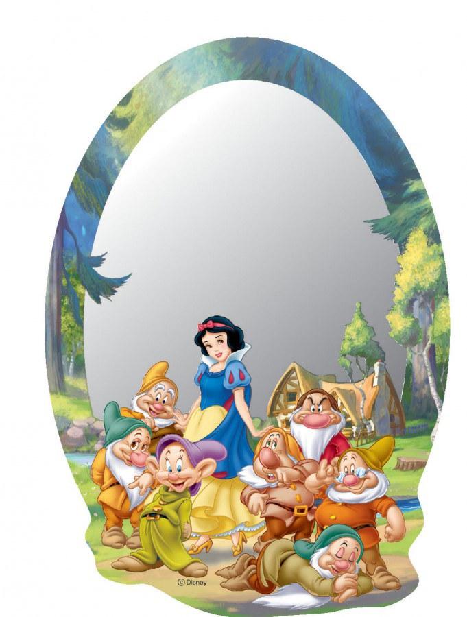 Dječje naljepnice ogledalo Snjeguljica i patvlci DM-2102, 15x22 cm - Naljepnice za dječju sobu